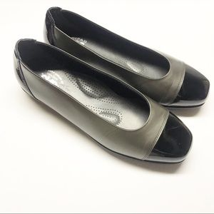SAS TRIPAD COMFORT Pewter Leather Captoe Flats